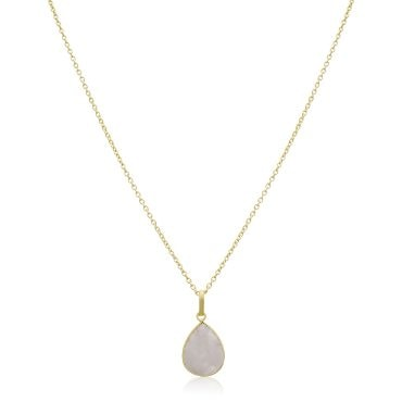 Pear shaped gold pendant