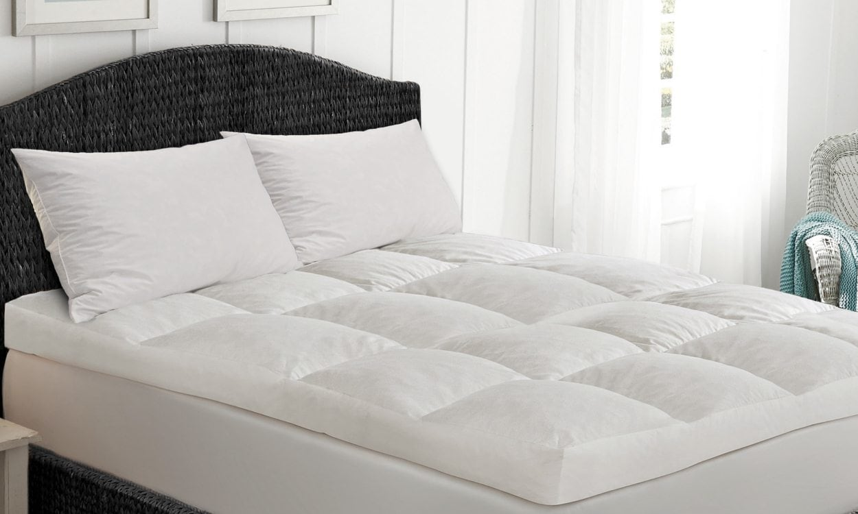 e281f4b459032 Things to Know Before Choosing a Down Featherbed. Bed with a down featherbed  topper