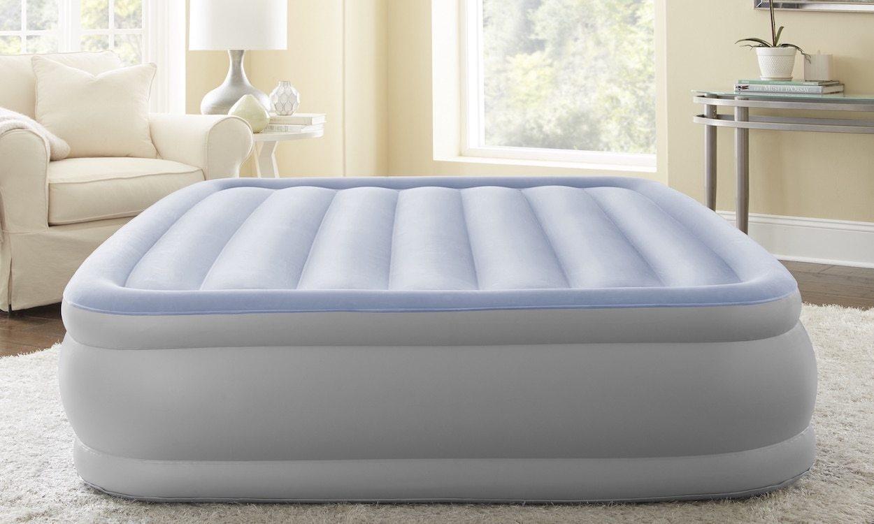 Grey inflatable mattress