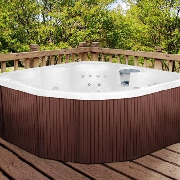 hot tub on a deck