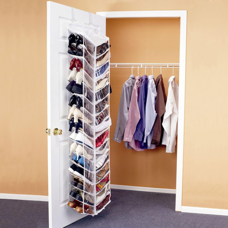 Over-door shoe rack