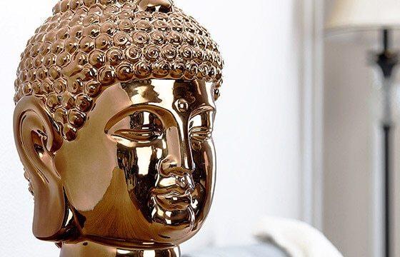 A boho buddah head souvenir