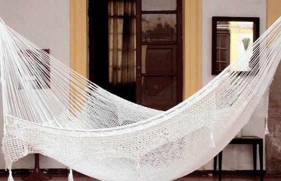 A boho hammock