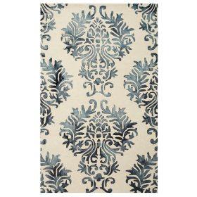 shabby chic damask pattern area rug