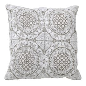 A lace Shabby Chic throw pillow