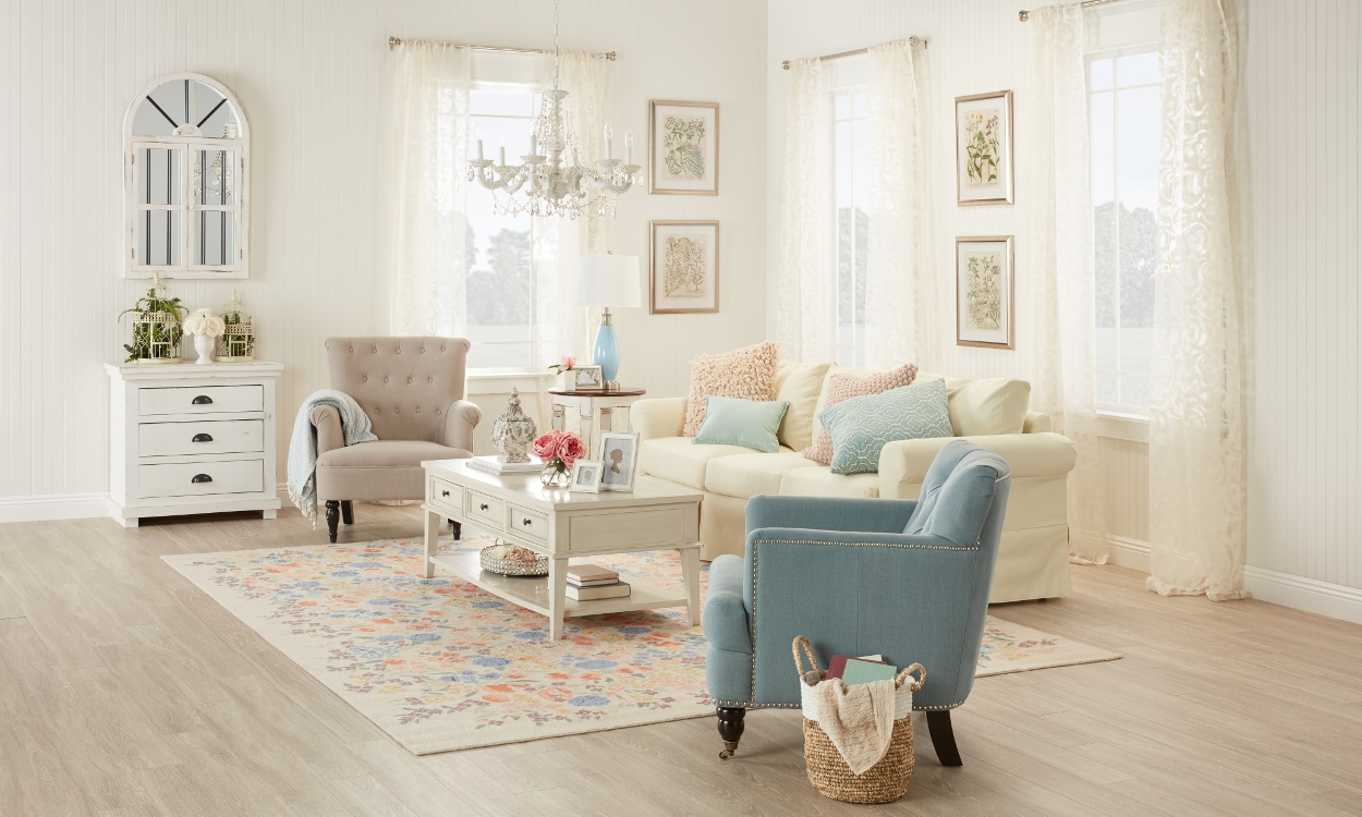 A Shabby Chic Living Room