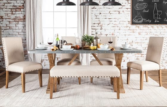 dining room table and upholstered dining chairs new home essentials