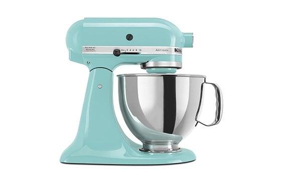 blue kitchenaid mixer new home essentials