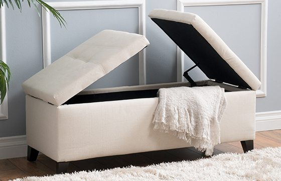 white upholstered storage bench new home essentials