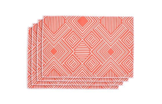orange and white striped cloth napkins new home essentials