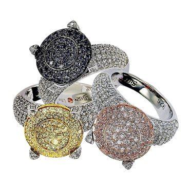 3 cubic zirconia rings
