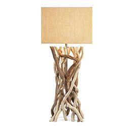 A dritfwood base of a table lamp, Coastal Decor