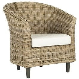 A wicker coastal accent chair: Coastal Furniture
