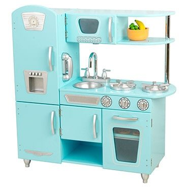 Light blue play kitchen, the perfect toy for girls this Christmas
