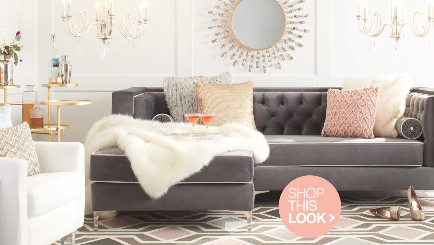 glam living room scene
