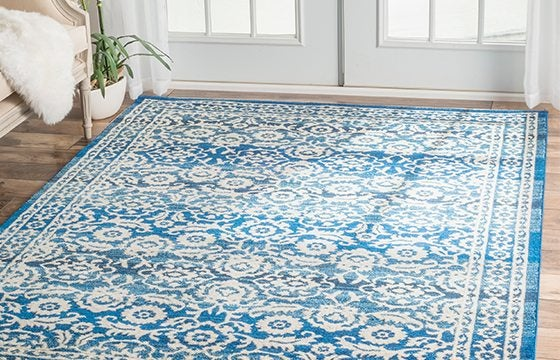 blue and white persian style area rug new home essentials