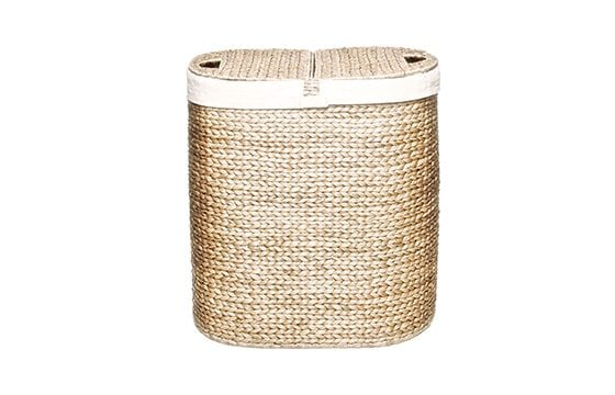 wicker, cloth-lined laundry Hamper new home essentials