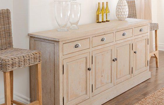 Wooden buffet new home essentials