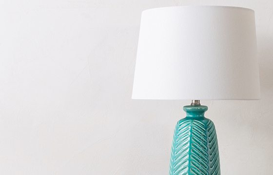table lamp with blue base and white shade new home essentials