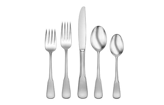 five piece silverware set new home essentials