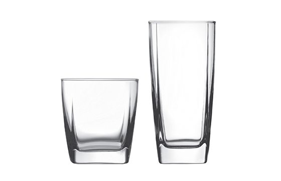 two glass tumblers new home essentials