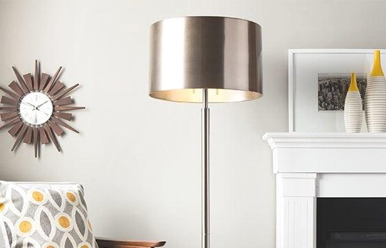 metallic floor lamp new home essentials