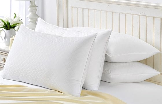 white bed pillows new home essentials
