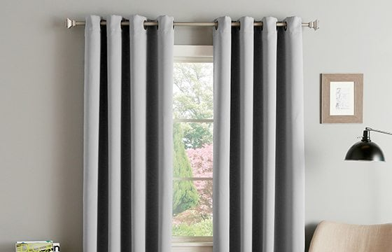 grey window treatments new home essentials