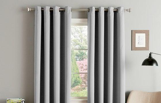grey window treatments new home essentials