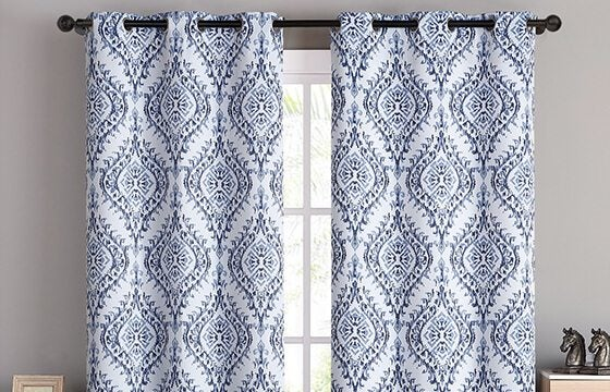 Patterned window treatments for mixing patterns