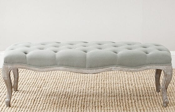 sage button tufted bench french country furniture and decor ideas