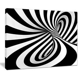 black and white lined abstract wall art modern interior design ideas