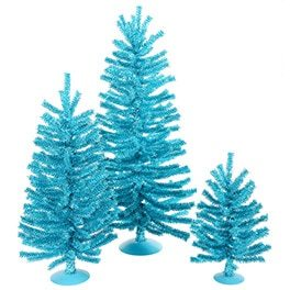 Bottlebrush Mini Trees mid-century christmas decor ideas
