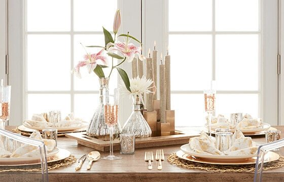 glam style table centerpiece glam furniture and decor ideas