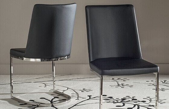 black leather and metal modern dining chairs modern interior design ideas