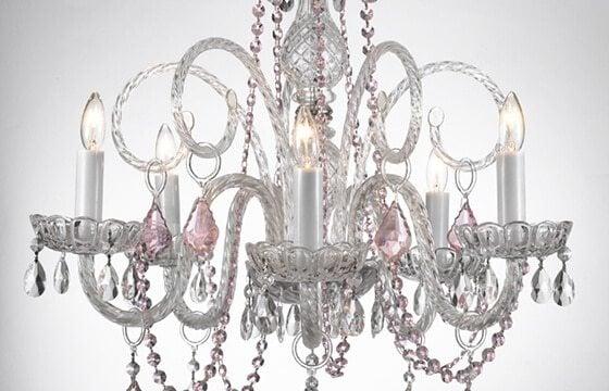 crystals chandelier teen bedroom ideas