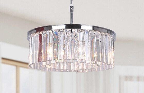 silver and crystal chandelier glam furniture and decor ideas