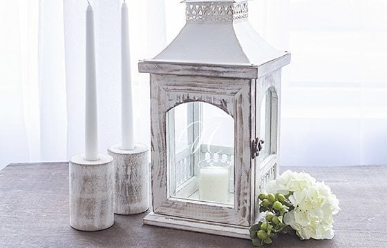 Whitewashed Decorative Lantern Shabby Chic Living Room Ideas