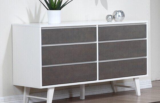 white and grey modern style dresser modern interior decor ideas