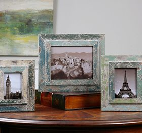 A set of picture frames perfect for an entryway console table