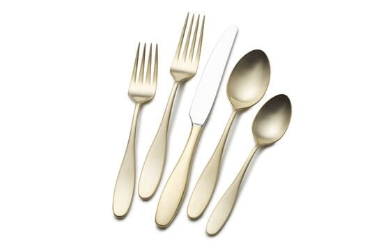 gold flatware set mid-century modern christmas decor ideas