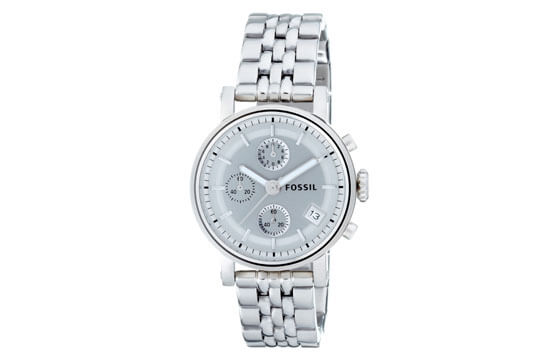 silvertone Fossil bracelet watch guide to women's watches