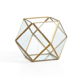 geometric terrarium winter glam Christmas decor ideas