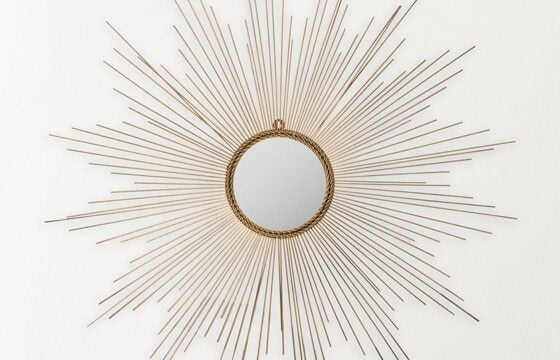 decorative sunburst mirror teen bedroom ideas