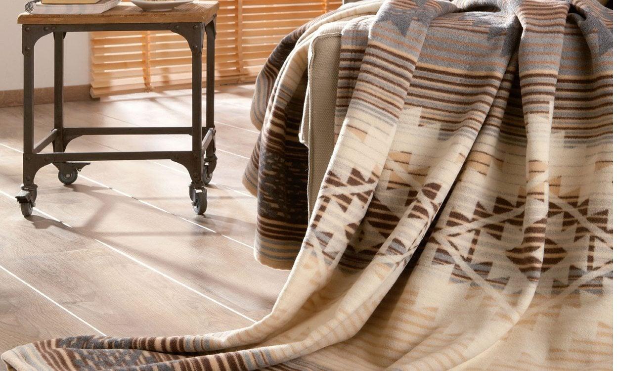 Wool blanket on chair