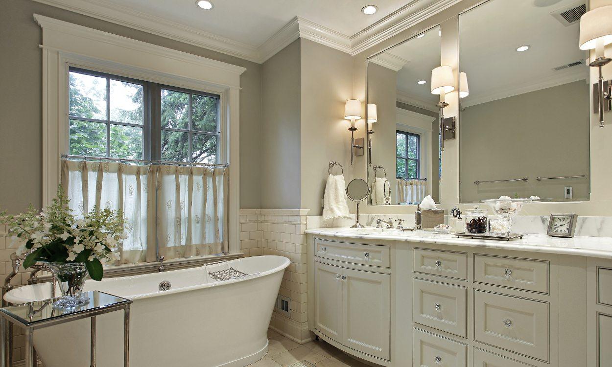 How To Create A Spa Bathroom On Budget White