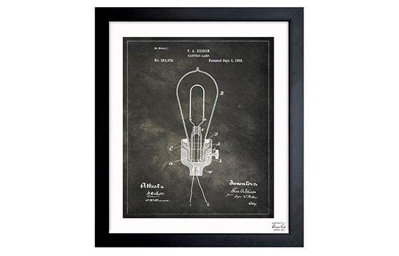 Blueprint industrial wall art ideas