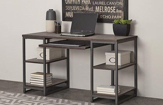 Industrial bedroom desk