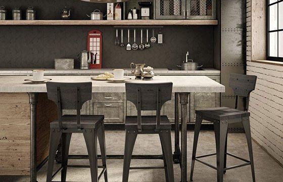 Industrial kitchen bar
