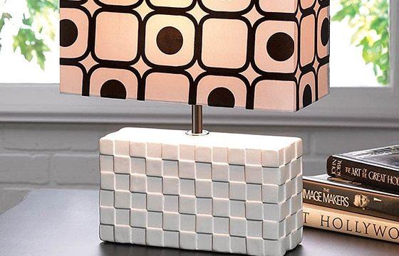 white modern rectangular table lamp modern interior decor ideas